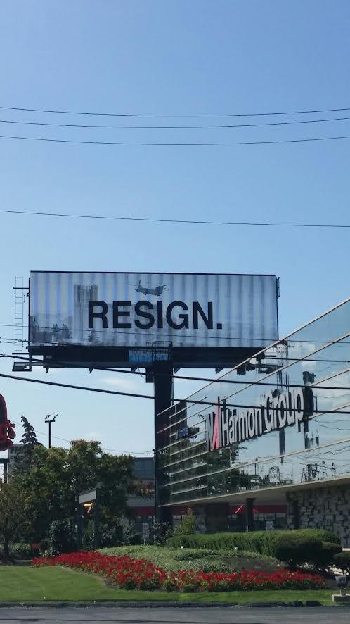 Biden Resign digital billboard Toledo, Ohio