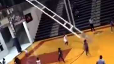 Alabama high school basketball game stopped backboard crash