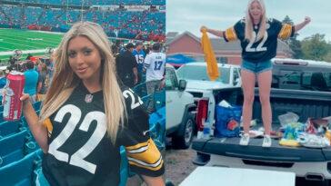 Amanda Vance Steelers fan tailgate video