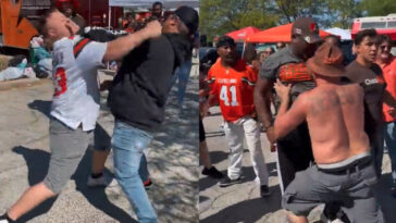 Browns fans fighting before Texans game