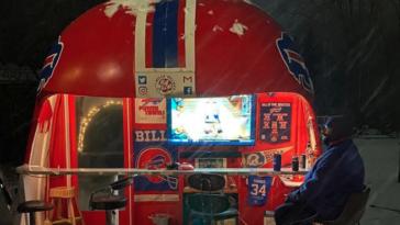 Buffalo Bills helmet bar