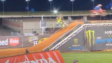 Cameron McAdoo supercross crash video