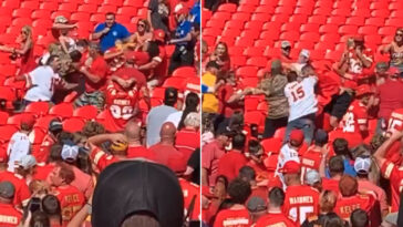 Chiefs fan fight after Chargers game video