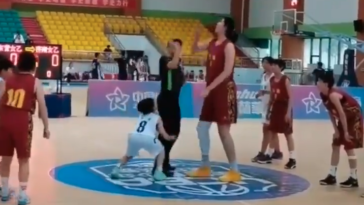 China seven foot four fourteen year old