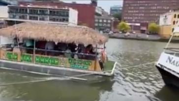 Cleveland tiki barge video