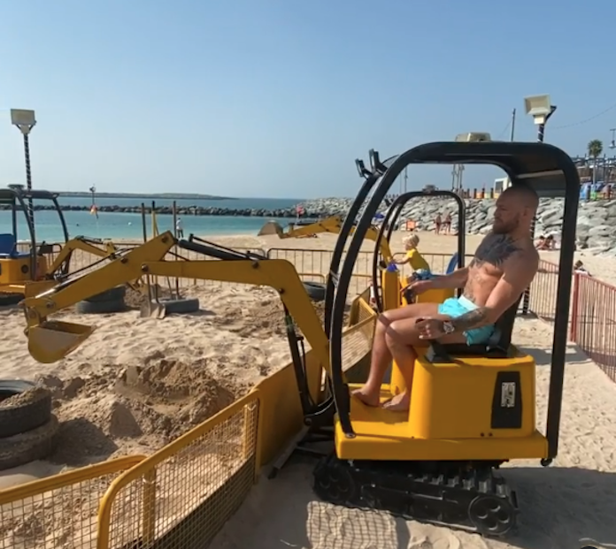 Conor McGregor mini excavator