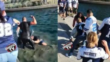 Cowboys fans fighting Los Angeles SoFi Stadium video