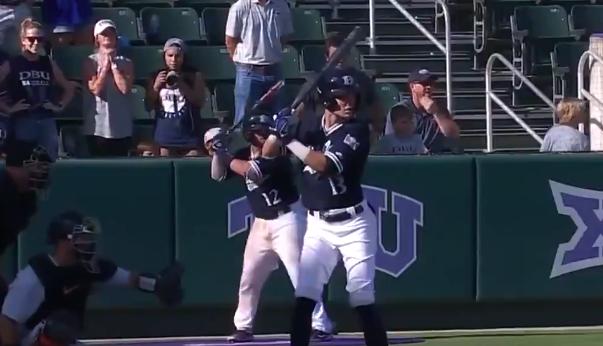 Dallas Baptist grand slam umpire video