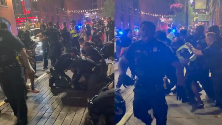 Detroit Greektown fight video