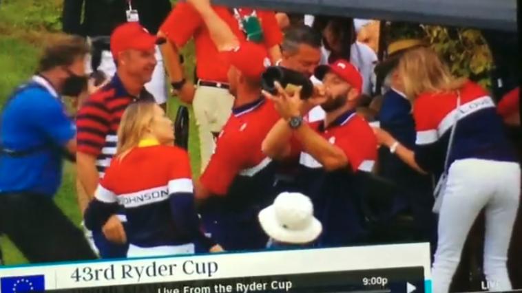 Drunk Dustin Johnson ryder cup video