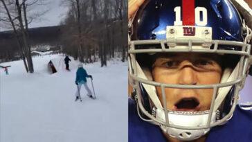 Eli Manning skiing accident