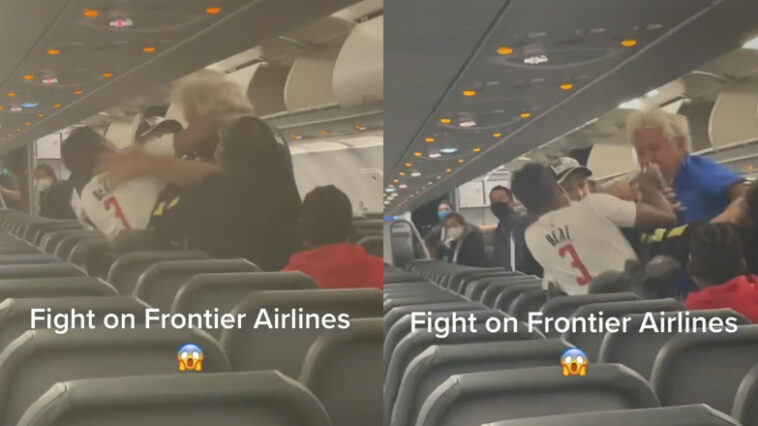 Frontier Airlines fight video