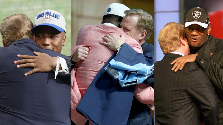 Goodell vaccinated hug draft picks