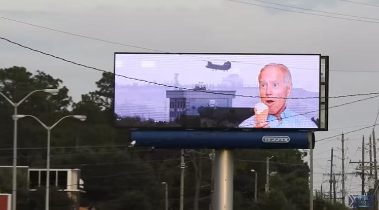 Joe Biden digital billboard Wilmington North Carolina - 1