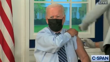 Joe Biden vaccination rate 97 percent