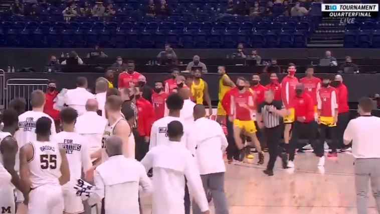Juwan Howard ejected Mark Turgeon Maryland video