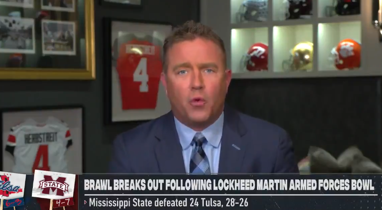Kirk Herbstreit strong words Mike Leach bowl fight