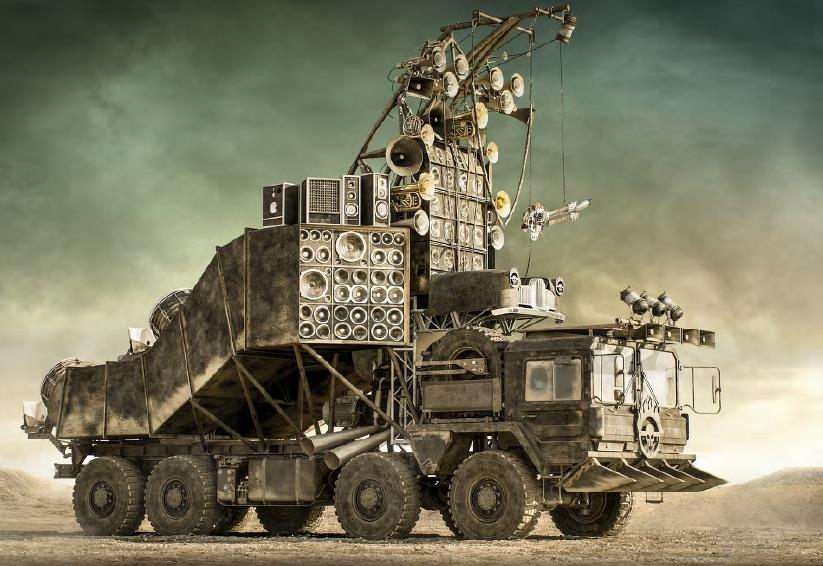Doof wagon from Mad Max: Fury Road