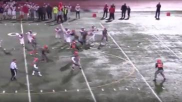 Michigan high school player Key Gibson touchdown run