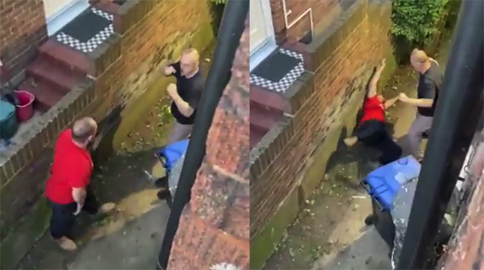 Neighbors fight video