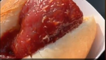 New York Giants ketchup maggots video