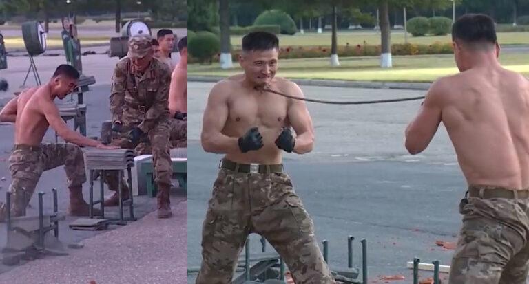 North Korean military training video
