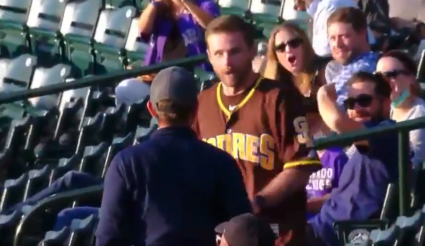 Padres fan punch Rockies fan video