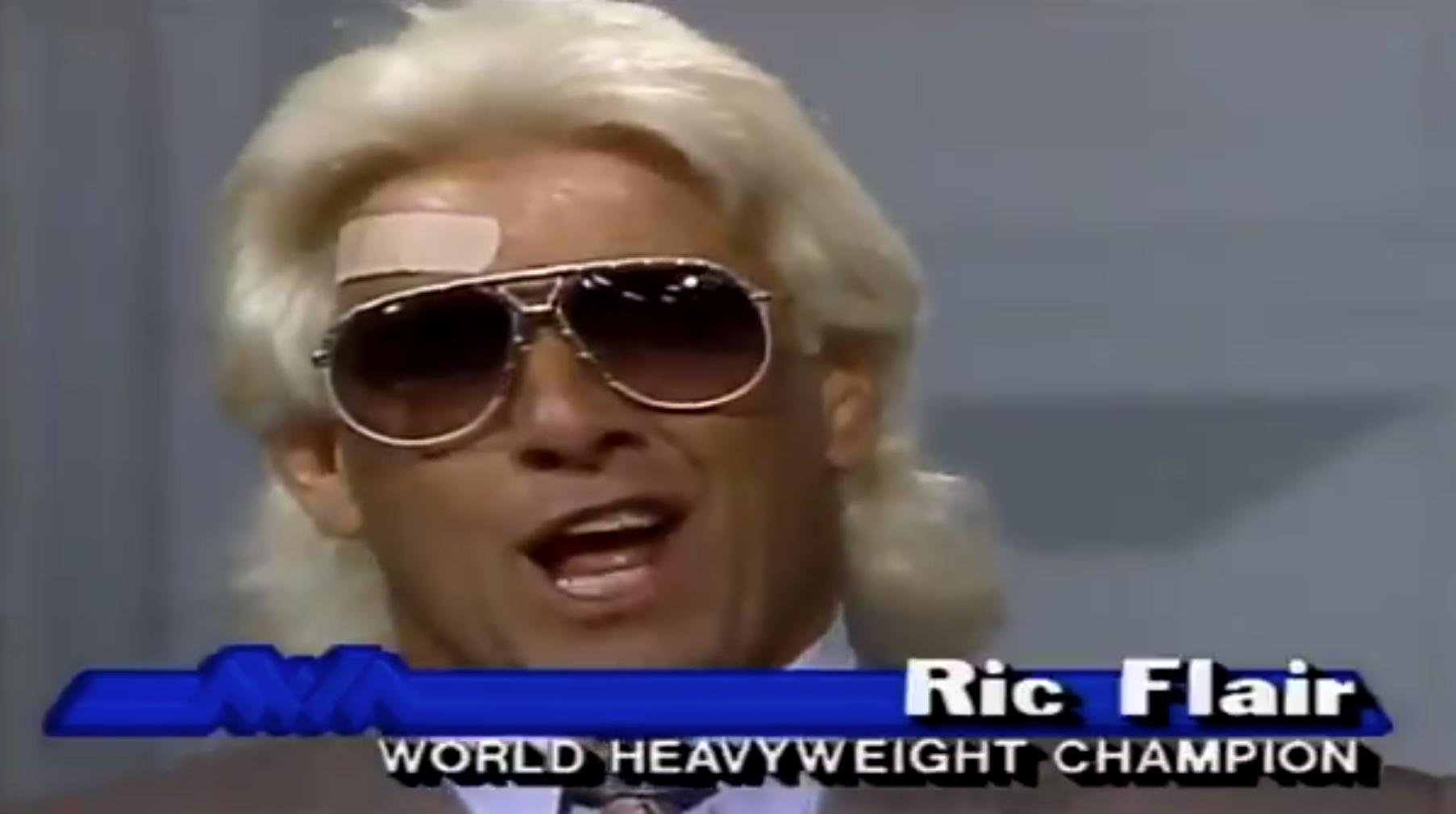 Ric Flair face injury