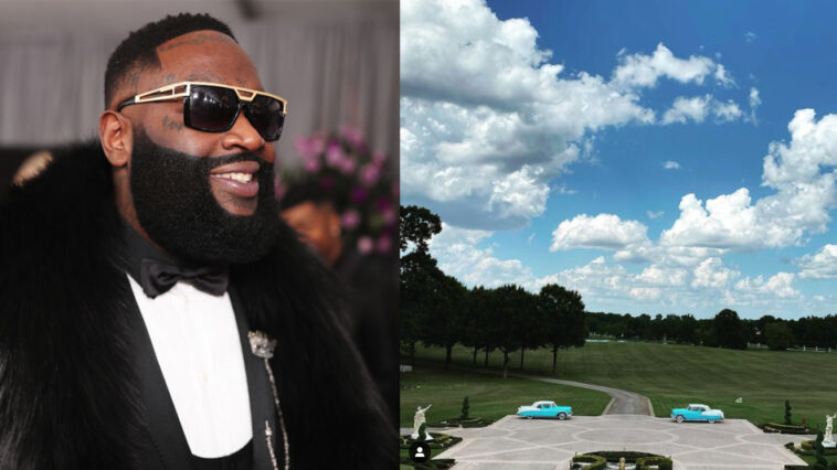 Rick Ross mows his own lawn