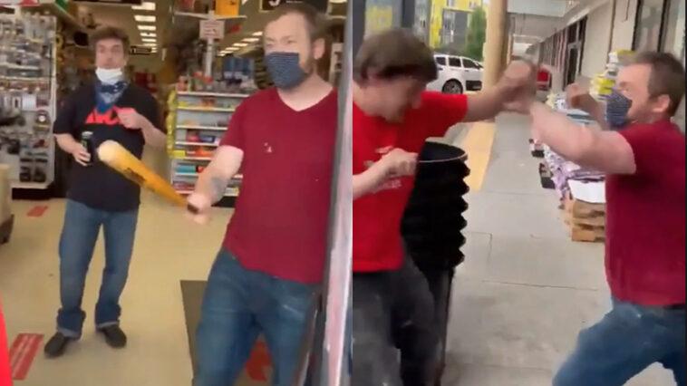 Seattle Ace Hardware Mask Fight