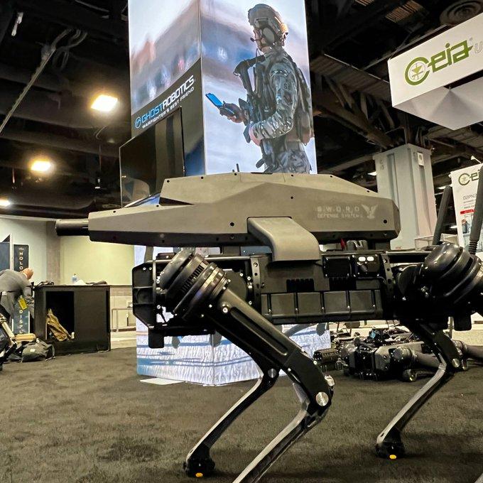Sniper rifle robot dog