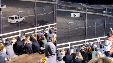 Spectator race roll-over Escalade video
