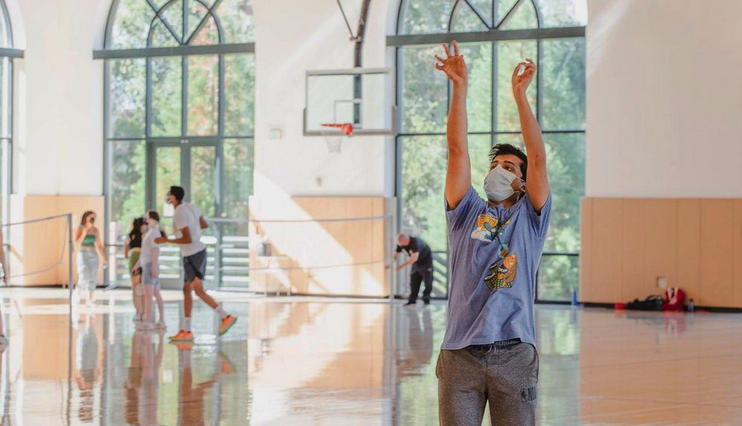 Stanford rec center basketball masks