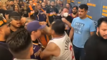 Suns Clippers fan fight video