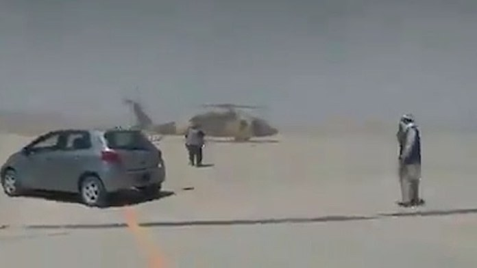 Taliban Blackhawk helicopter
