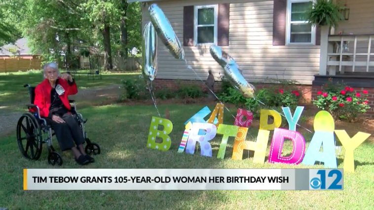 Tim Tebow 105-year-old woman birthday message