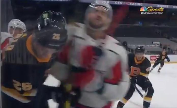 Tom Wilson hit Bruins