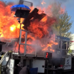 Truck blows up at dyno event
