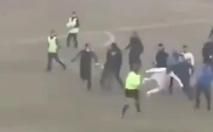 Uzbekistan soccer kung-fu kick