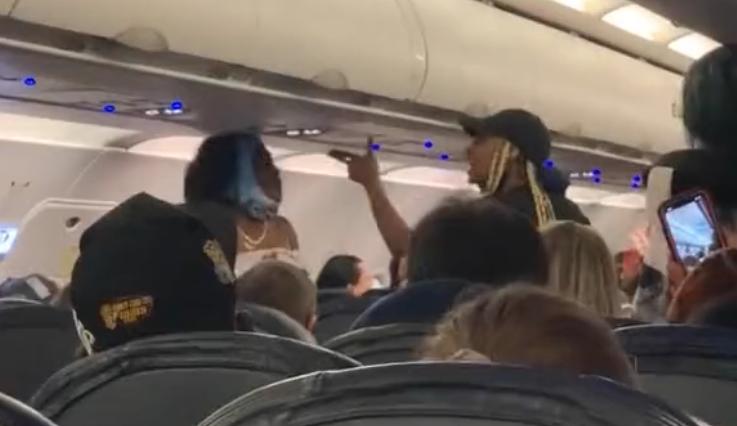Vegas Atlanta Spirit Airlines fight video