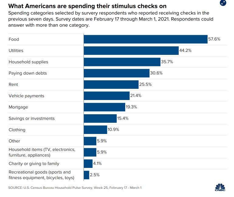 What people spent stimulus checks on