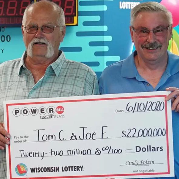 Wisconsin men win Powerball