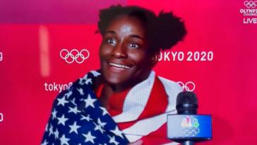 Wrestler loves the USA Olympics gold medalist Tamyra Mensah-Stock
