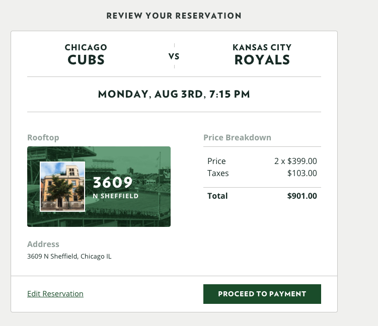 Wrigley rooftop prices