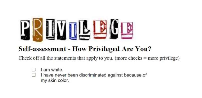 YWCA White Privilege Checklist - lead