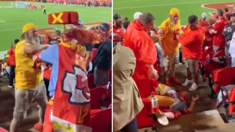 chiefs fan x-factor fight Sunday Night Football